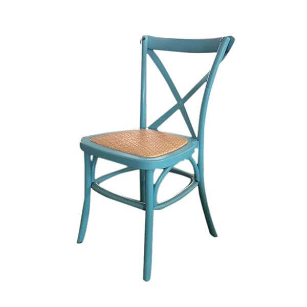 blue pp x back chairs