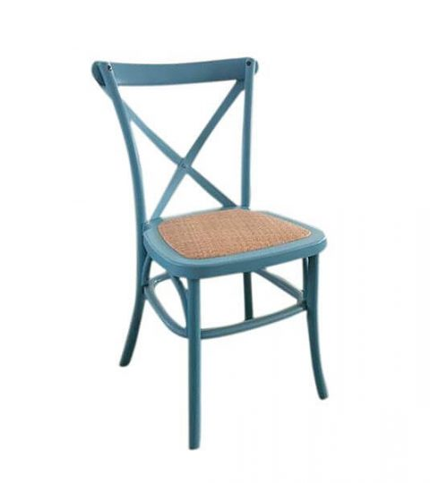 PP X Back Chairs Rattan Seat