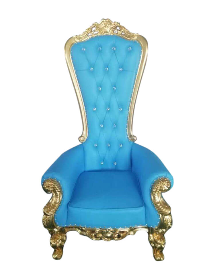 blue throne chairs