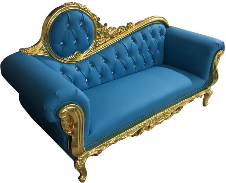 blue wedding sofa