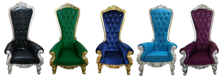 color throne chairs