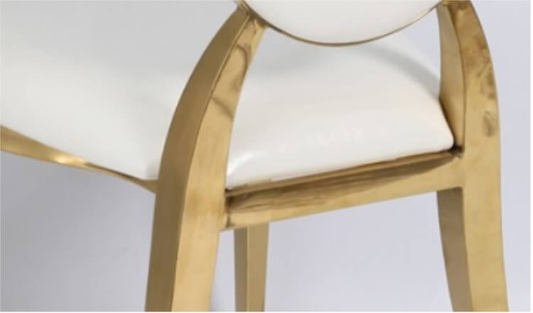 details of gold chairs