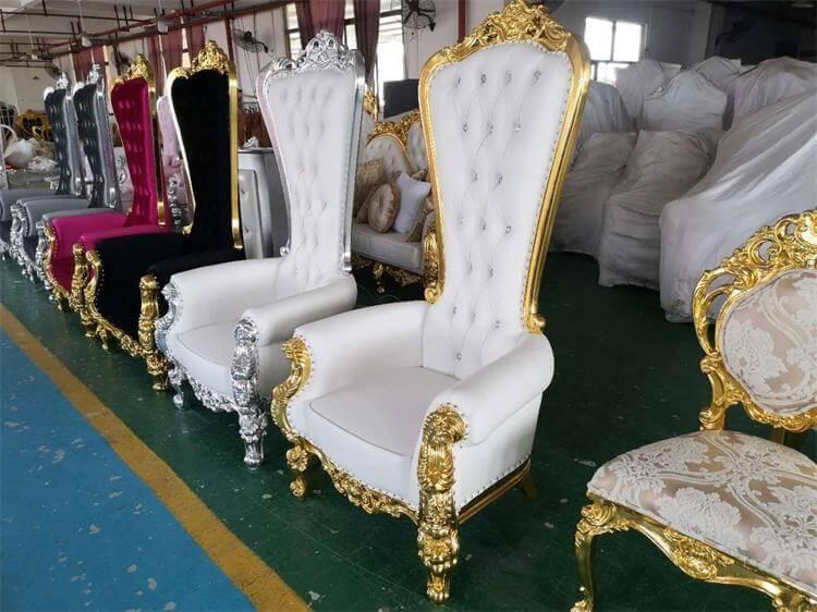 elegant throne chair