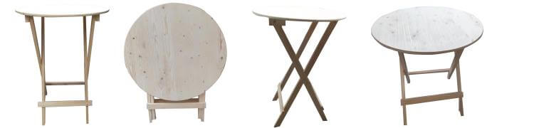 foldable round bar table