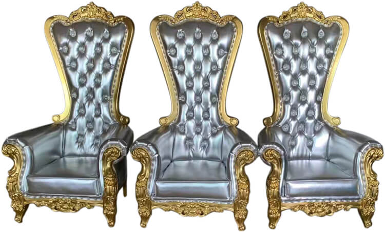 gold king throne chair supplier