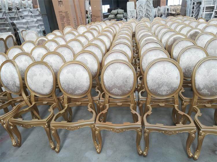 gold resin chairs