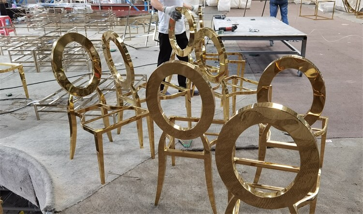 gold stainless steel chairs