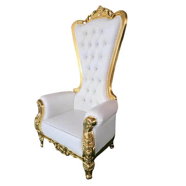 gold throne chairs