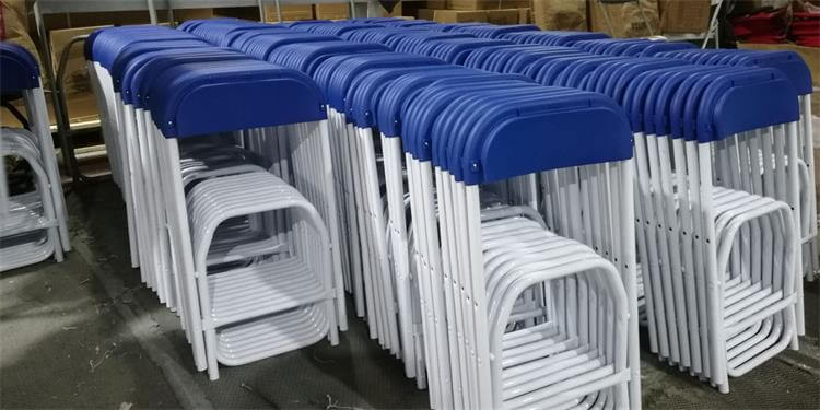 kids folding chairs blue