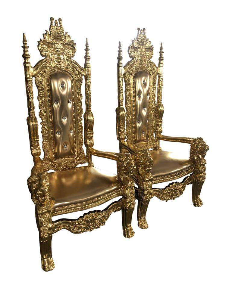 king chairs gold