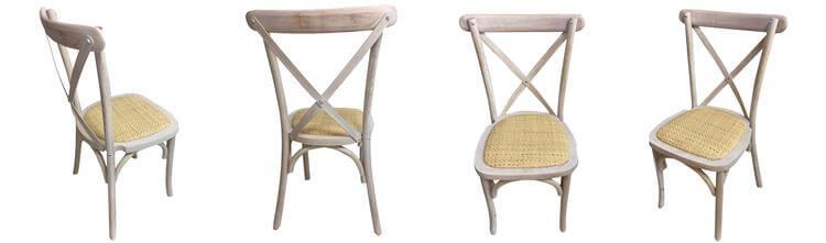 limewash cross back chairs