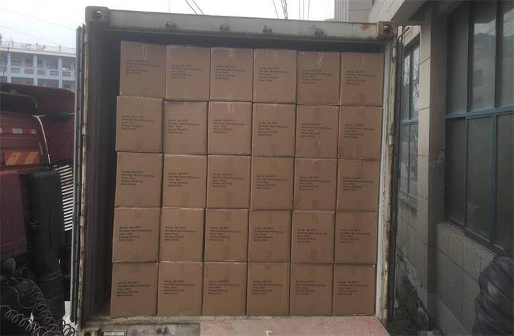 loading container for metal folding chairs