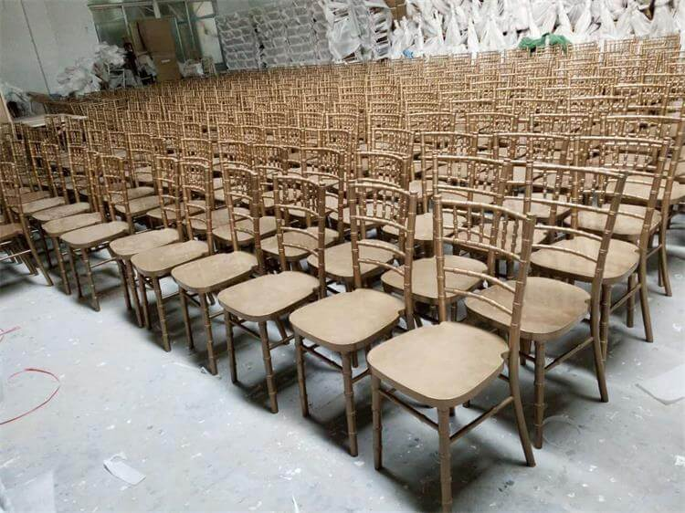 mass production of gold special UK chiavari chairs