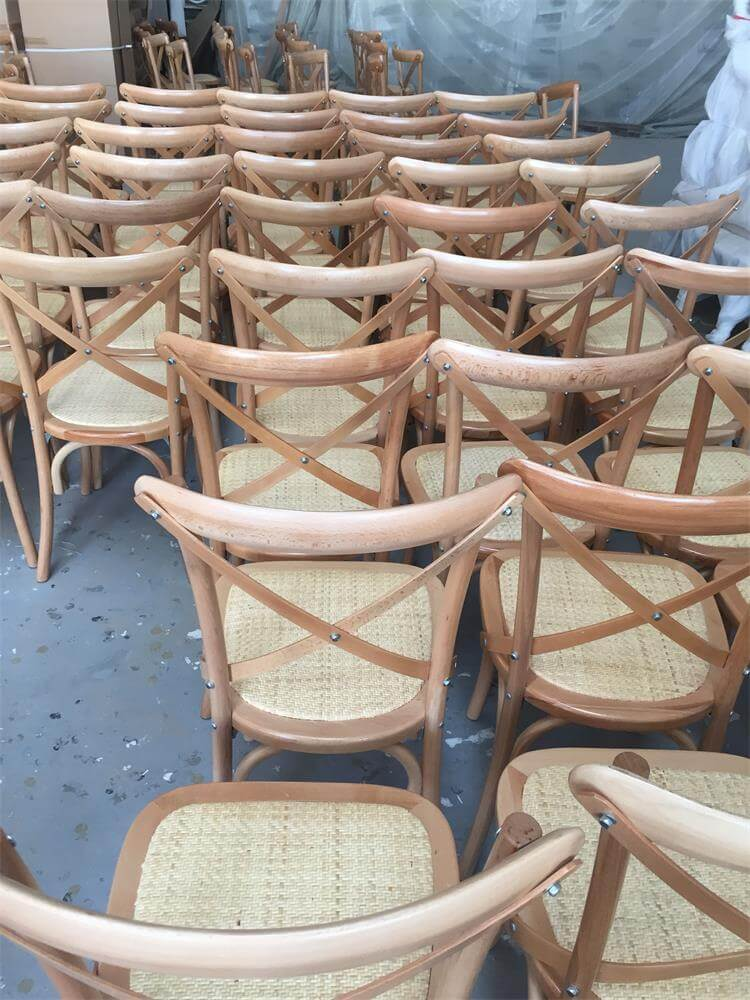 natural crossback chairs