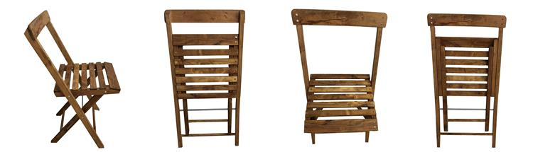 natural oak folding chairs supplier