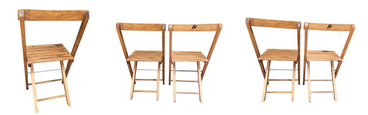 natural oak folding chairs