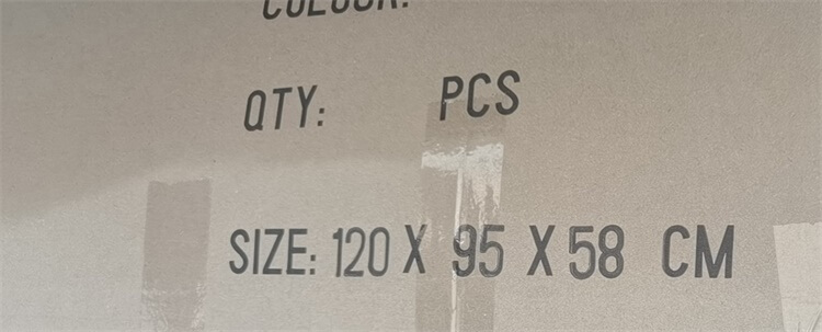 packing size of box