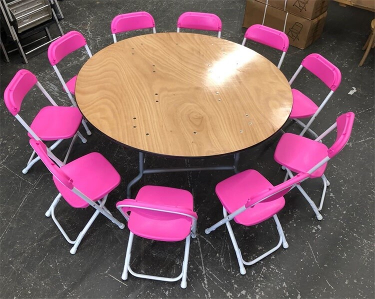pink kids chairs