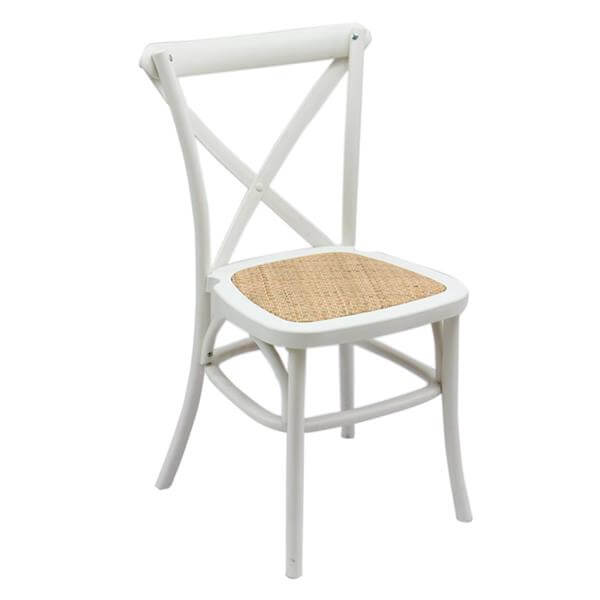 pp resin x-back chair with rattan