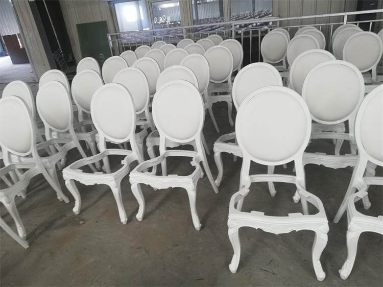 production processing of resin louis chairs