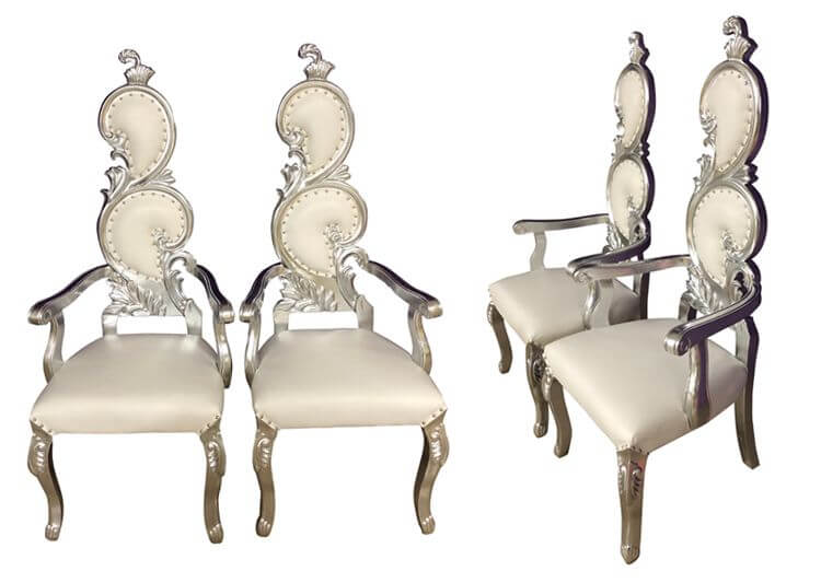 queen chairs with arms