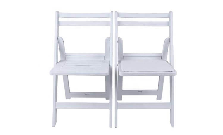 resin folding chairs with slat seat