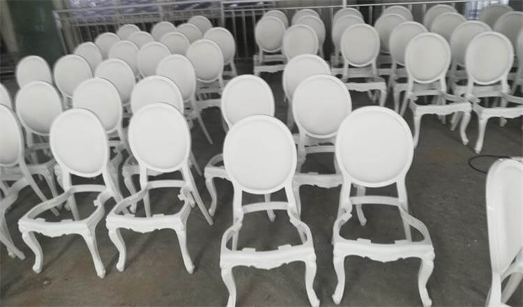 resin louis chairs white