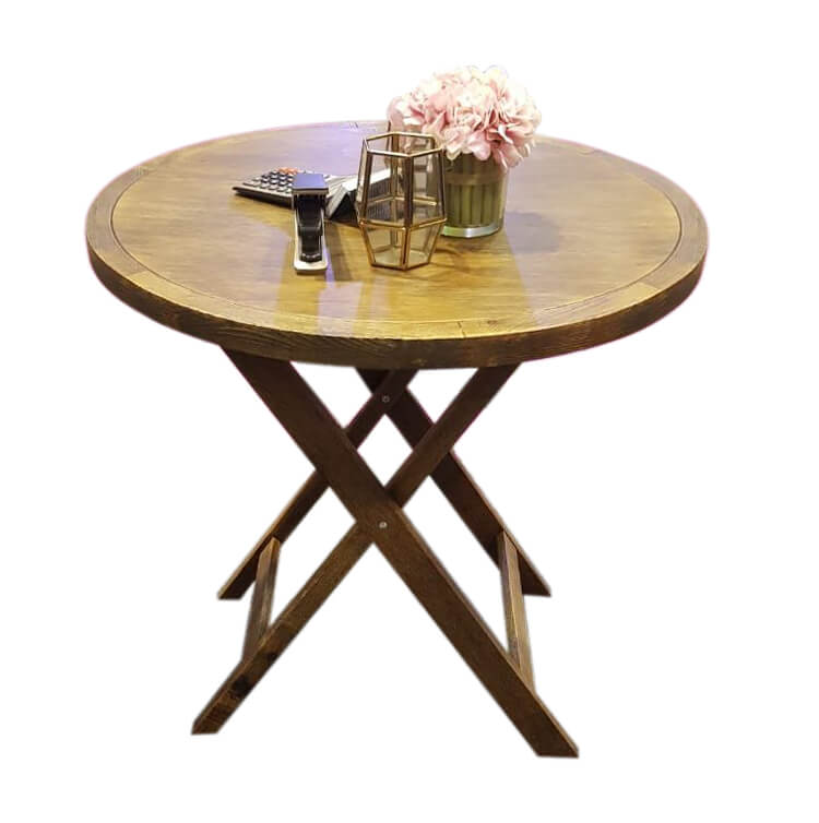 round bar tables natural color