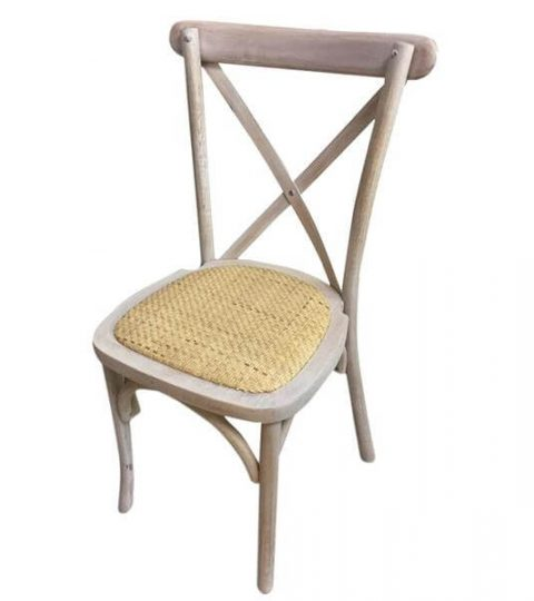 Stackable X Back Chair Rattan Seat