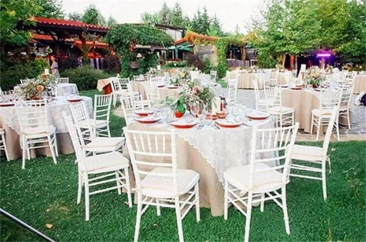 white chiavari chairs wood