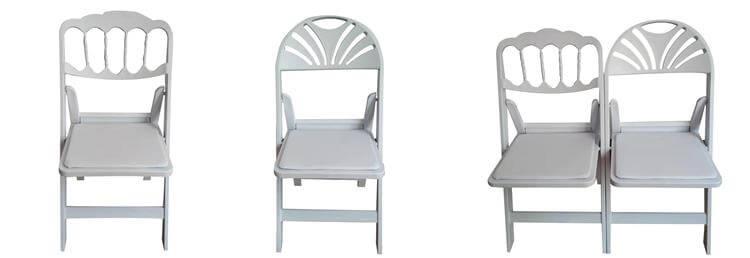 white fan back chairs