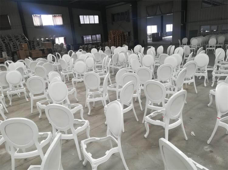 white resin louis chair factory