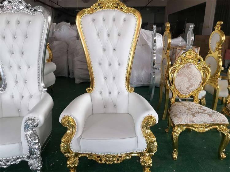 white royal throne chair