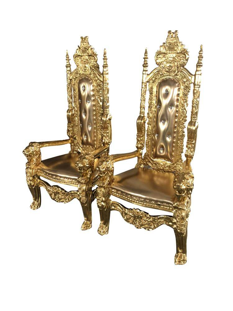 wood king chairs gold