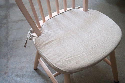 Linen seat cushions