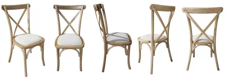 Cross back chairs with Fireproof pads (1)