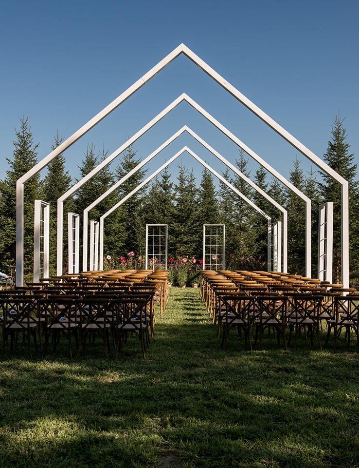 Farm cross back chairs wedding