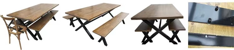 Farmhouse Tables With Metal Legs (1)