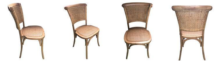 Rattan cross back chair