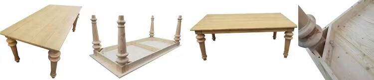 Knockdown New Design Solid Pinewood Farm Tables wholesale
