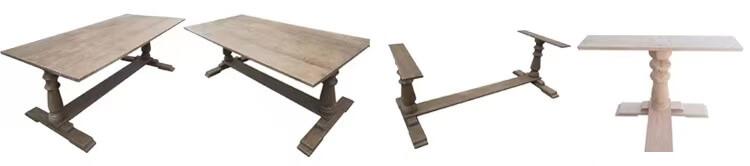 Solid Oak Rectangular Farmhouse Tables wholesale