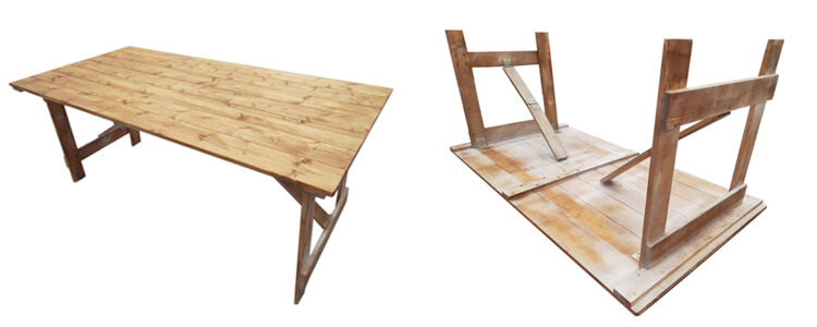 Simple UK style Outdoor Farmhouse Tables wholesale