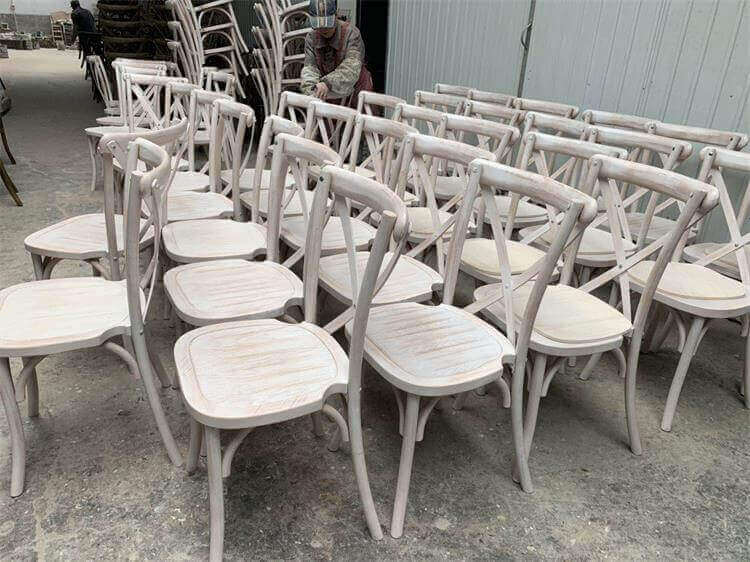 lime wash cross back chairs wholesale