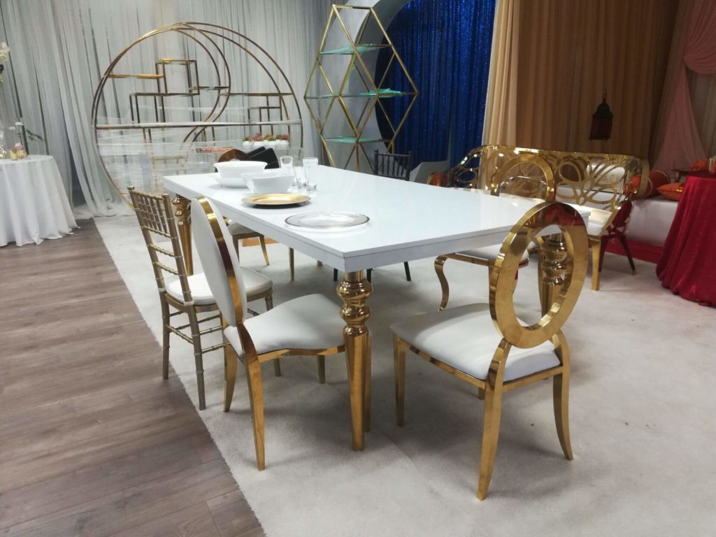 types of banquet chairs