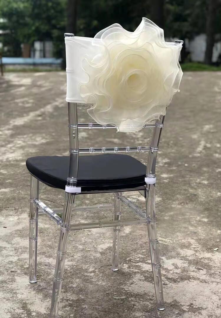 flower chiavari chair decor