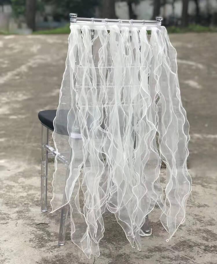 stylish wedding chair decor