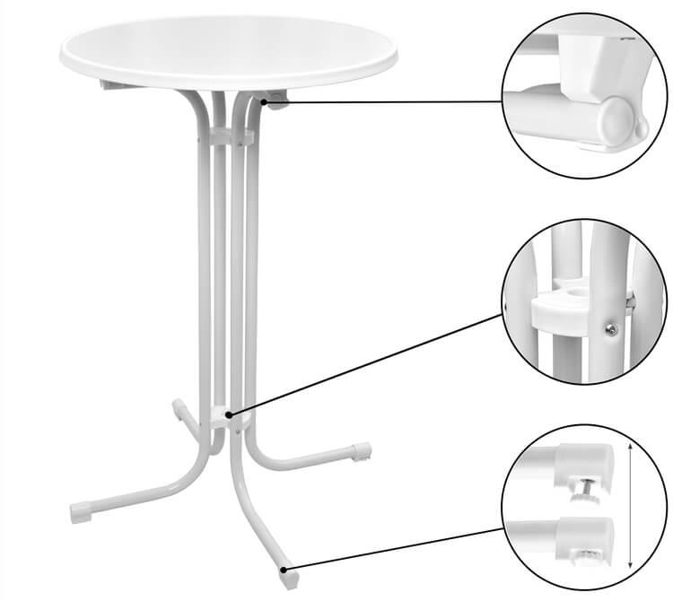 folding high top bar tables