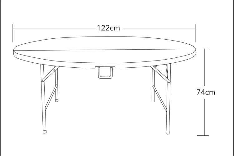 outdoor plastic tables 120 cm