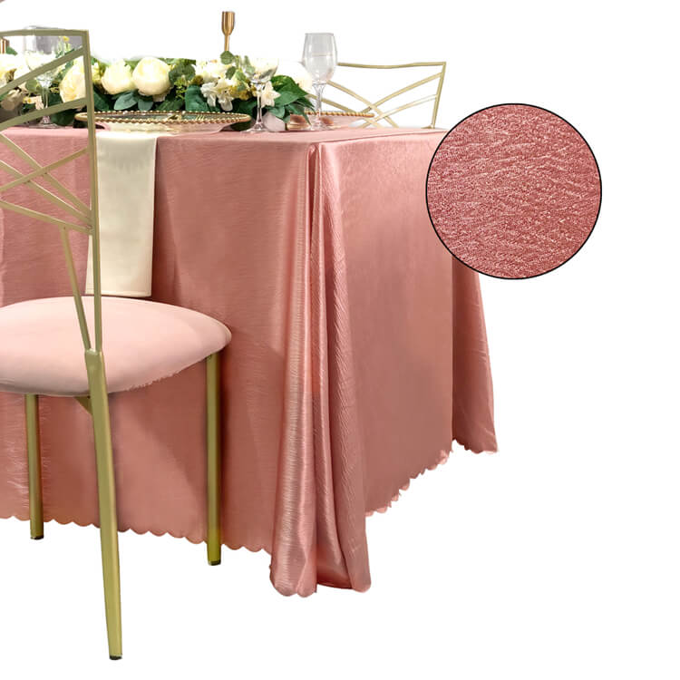 pink wedding table cover factory