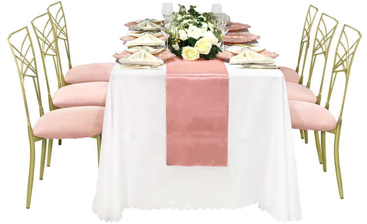 pink wedding table cover